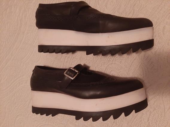Zapatos Con Plataforma Goma Maciza Nazaria