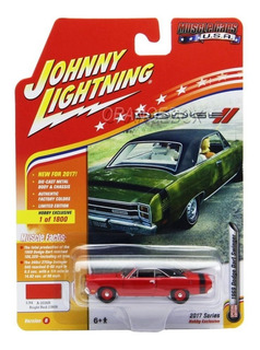 Dodge Dart 1969 Johnny Lightning 1:64 Vermelho