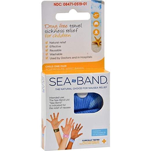 Sea-band Para Niños Pulsera De 1 Par Azul