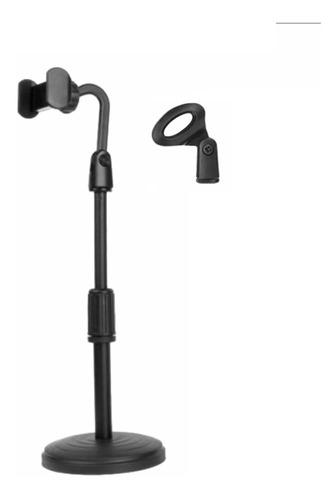 Suporte Para Celular Ou Microfone De Mesa Com Ajustes Rígido