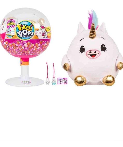 Brinquedo Unicórnio Pikmi Pops Surpresa Jumbo Com Pelucia