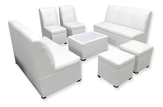 Mueble Sala Lounge Minimalista Moderna Sillones Puff Salas