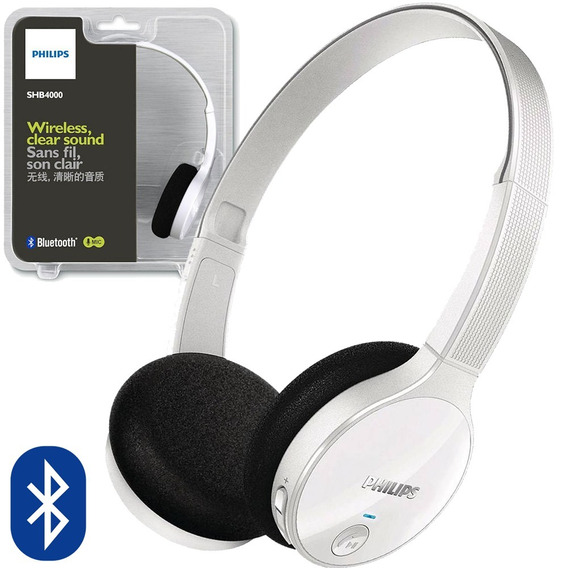 Fone De Ouvido Bluetooth Headset Philips Estéreo Shb4000
