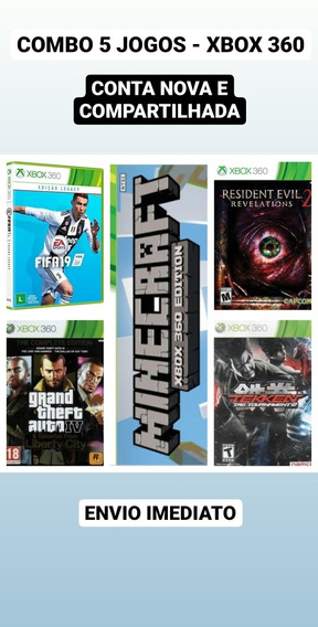 Combo Xbox 360(fifa19, Minecraft, Tekken 6, Re(rv2), Gta Iv)