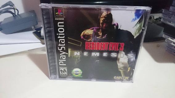 Resident Evil 3 Br Ps1 - Midia Prensada De Alta Qualidade