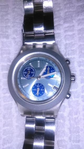 Relógio Swatchi Irony Azul - Masculino Original Com Caixa