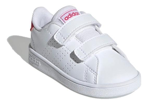 Zapatilla adidas Lifestyle Niña Inf Advantage I Blanco Ras