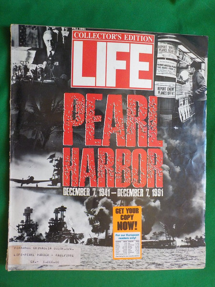 Revista Life Pearl Harbor 1941 - 1991