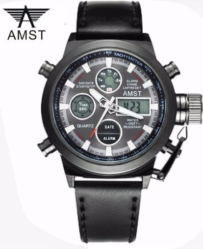 Relógio Amst Luxo Militar Esporte Digital Analógico + Frete