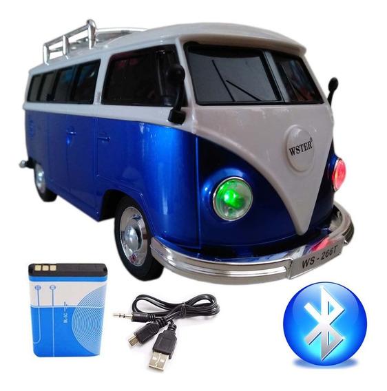 Caixa De Som Bluetooth Caixinha De Som Caixa Portatil Kombi