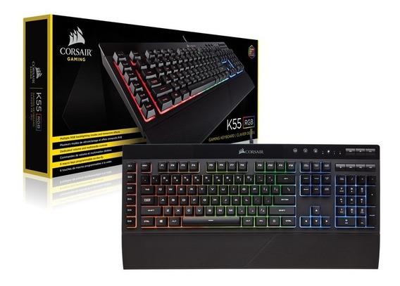 Teclado Gamer Corsair K55, Rgb, Abnt2 - Ch-9206015-br