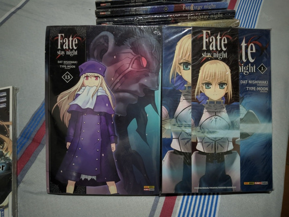 Mangá Fate Stay Night Vol. 1 Ao 9 + 11 E 13