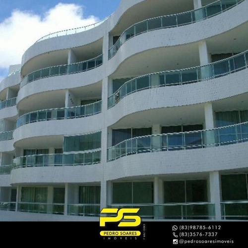 Imagem 1 de 12 de Flat Com 1 Dormitório À Venda, 60 M² Por R$ 200.000,00 - Carapibus - Conde/pb - Fl0140