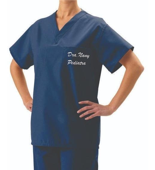 Conjunto Pijama Cirúrgico Unissex Scrub Bordado Seu Nome