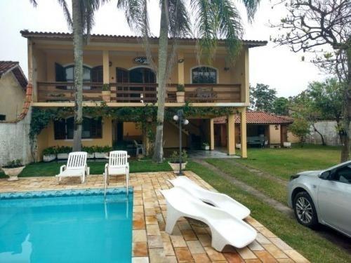 Casa Com Piscina 4 Dormitórios A 900 Metros Do Mar Em Itanhaém - 0124-cs