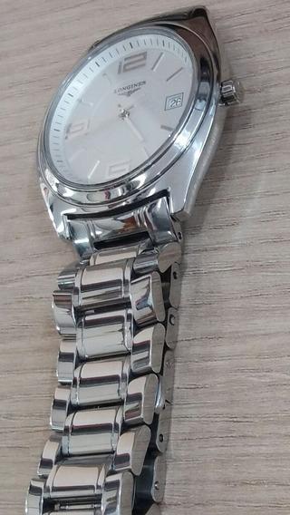 Relógio De Pulso Suíço Longines Lungomare L3.632.4 Em Aço