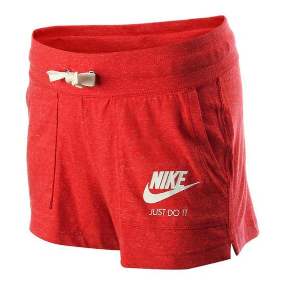 Short Nike Vintage Rojo Mujer