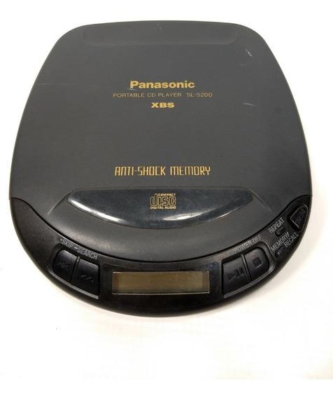 Antigo Discman Panasonic Funcionando Vintage Retro 1998