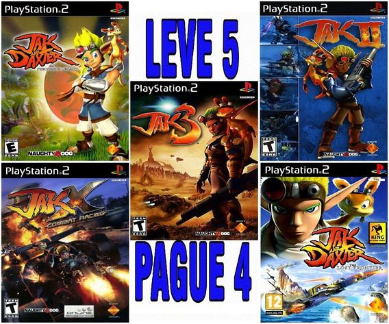 Jak Collection (5 Jogos) Ps2 Desbloqueado Patch