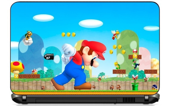 Adesivo Skin Notebook Game Super Mario Bros Nitendo