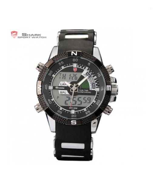 Relógio Masculino Shark Analógico Digital Ds006l Preto