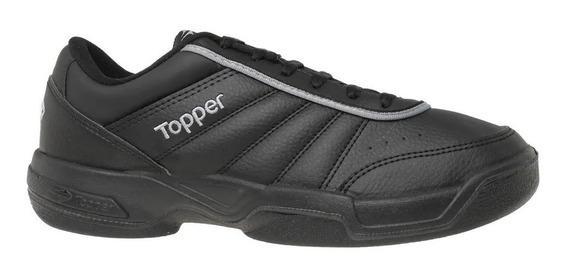 Zapatilla Topper Tenis Hombre Tie Break Neg. Cli