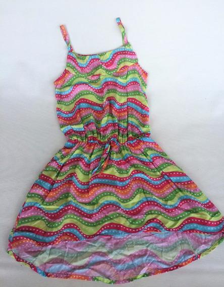 Vestido Infantil Alphabeto Estampado Tam.8a