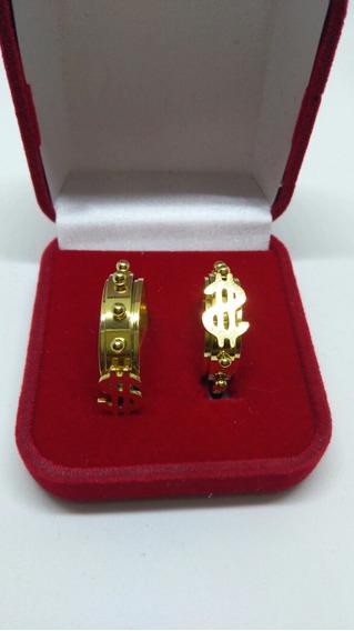 Anel Dinheiro ( Unidades) Folheado A Ouro 18k