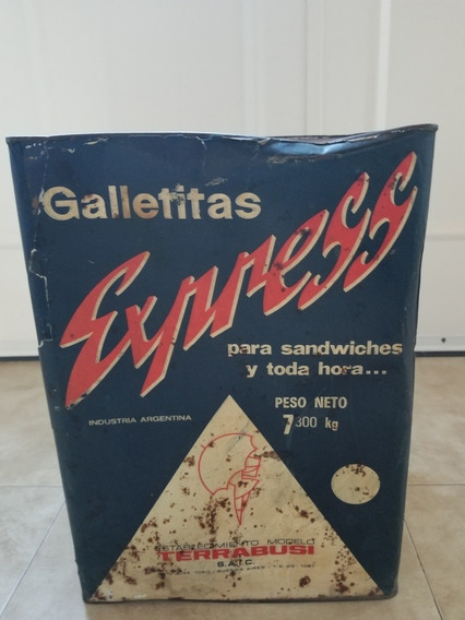 Lata Antigua De Galletitas Express