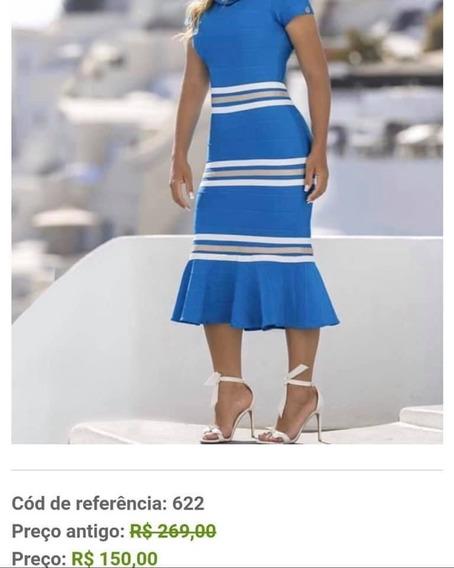 Vestido Bandage Azul Tr