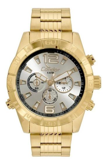 Relógio Condor Masculino Dourado Covd54aw/4k