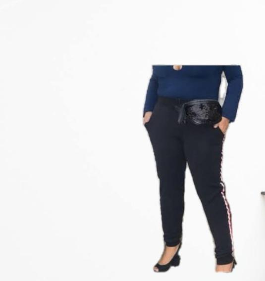 Calça Feminina Plus Size Canelada Tamanhos 46,48 E 50