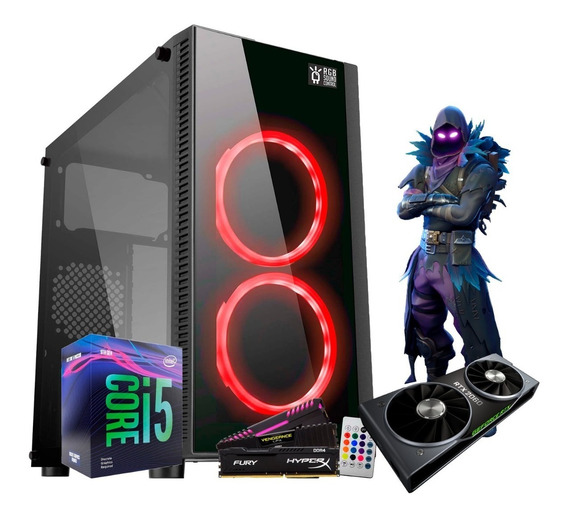 Pc Gamer I5 9400f B360m Rtx 2060 6gb Ram 8gb Fan Led Rgb