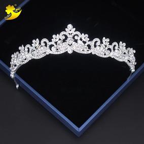 Coroa Tiara Para Noiva Debutante Strass Casamento Miss Tiara