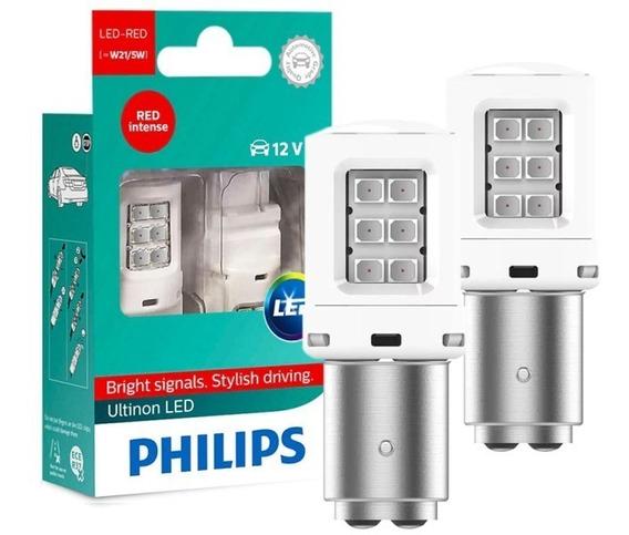 Par Lâmpada Freio Philips P21/5 Led Vision 2 Polos Original