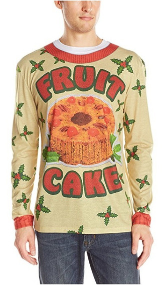 Sueter Xmas Ugly Sweater Hombre Talla Xl Fruit Cake
