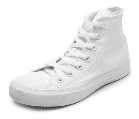 All Star Bota Todo Branco Lona Ct04470001 Original C/nota