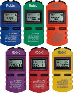 Cronómetro Multiuso De Memoria Incluye 6 Unidades Multicolor