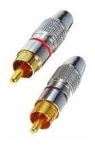 Plug Csr Nit1163m Metal Rca Macho (blister 5 Unidades)