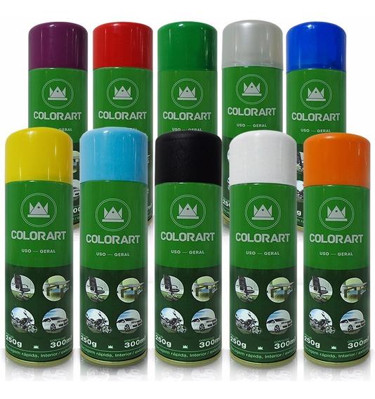 Kit 5 Spray Colorart 300ml Uso Geral Madeira Gesso Ceramica