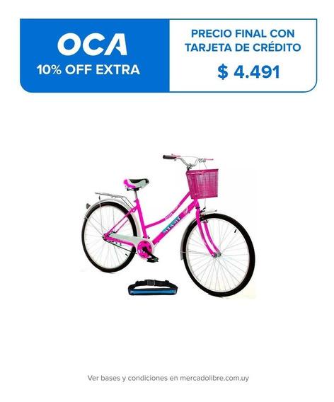 Bicicleta Paseo Dama Rodado 26 + Bolso + Parrilla