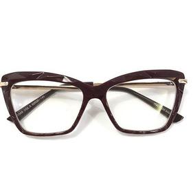 dfd9fe1fc Óculos P/grau Femenino Nova Transparente Gold Diamante Oluxo