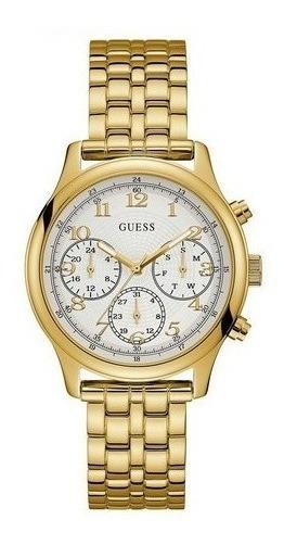 Relogio Guess W1018l2 Dourado 100% Original Completo Caixa