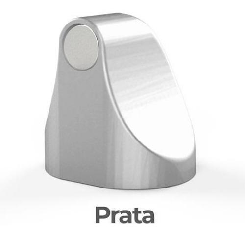 Fixador Trava Porta Magnético Adesivo Comfortdoor Prata