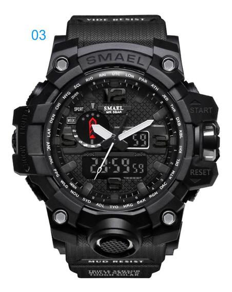 Relógio Masculino Smael 1545 G-shock Natação Militar Esportivo Sku081