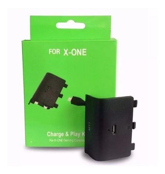 Bateria Tampa E Cabo Carregador Controle Xbox One Charge