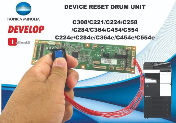 Reset Cilindro Chip Konica Minolta + Todos Manuais Técnico