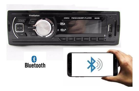 Radio Mp3 Player Carro Fm Sd Card Usb Aux Bluetooth Som