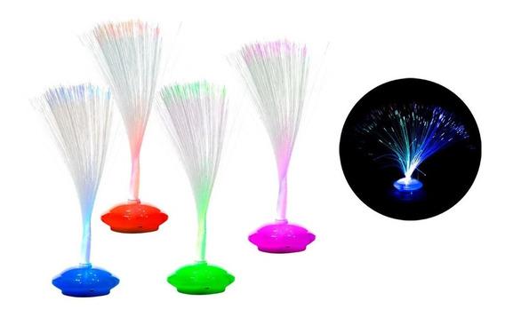 10 Centros Mesa Decoración Fibra Óptica Led Colores Fiesta