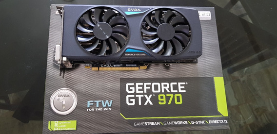 Evga Geforce Gtx 970 4gb Gaming Acx2.0 Ftw Con Backplate